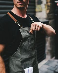 Browse products sold by Yellow Stuff - Barista apron and Cafe goods in our… Opening A Coffee Shop, My Coffee Shop, Coffee Store, Cafe Uniform, Cafe Barista, Restaurant Uniforms, Leather Apron, Coffee Truck, Cafe Design