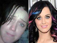 De-brainwashing young girls of the unattainable idea of photoshopped attractiveness one celebrity at a time. Here: Katy Perry