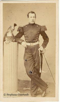 Photographes et Militaires.: Cavalier d'un régiment de Dragons Second Empire…