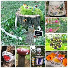 Garden Crafts - excited about the warmer weather and can wait to get into the garden? Here are some wonderful and delightful garden DIYs that you may want to check out. Something for everyone. From DIY Garden Aprons, to fairy houses and simple bug hotels