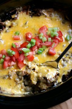 Not your average recipe today! I made this drool worthy Slow Cooker John Wayne Casserole for dinner the other night.