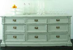 mint dresser - like the drawer pulls too!