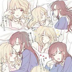 ஐ Created By: Anime Girlxgirl, Yuri Anime, Kawaii Anime, Anime Couples Drawings, Anime Couples Manga, Cute Anime Couples, Yuri Comics, Anime Comics, Vi Lol