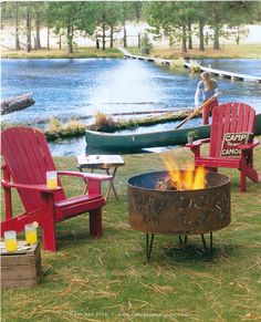 Adirondack Chairs -- and love that fire pit!