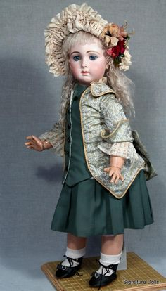 French Bisque Bebe Triste by Emile Jumeau, Size 14 from signaturedolls on Ruby Lane