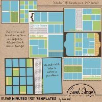 X Storyboard Template Set   Scrapbooking
