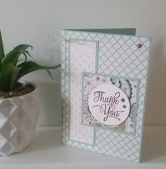 Stampin' Up! Demonstrator stampwithpeg – November customer thank you cards : Petals & Paisleys with One Big Meaning. I love making my customer thank you cards and gifts, I am so happy when peop…