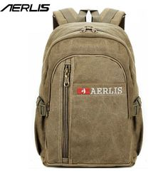 a79c6994a59d AERLIS Brand Men Women Canvas Backpack Casual College Travel Rucksack For  Man Quality Laptop Shoulder Bags