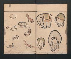 Abbreviated Drawing Styles for Birds and Animals (Chōjū ryakuga shiki), Kuwagata Keisai, 1797 | Woodblock printing | Met Museum