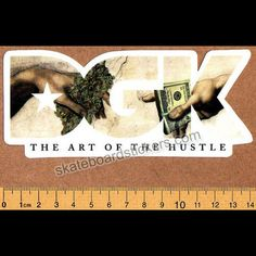 DGK - The Art of the Hustle - Dirty Ghetto Kids Skateboard Sticker - SkateboardStickers.com