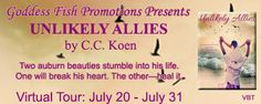 VIRTUAL BOOK TOUR & #GIVEAWAY - Unlikely Allies by C.C. Koen - #Contemporary, #Romance, Goddess Fish Promotions  (July)