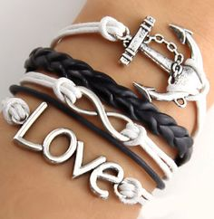 Nautical Anchor Cord Bracelet ♥