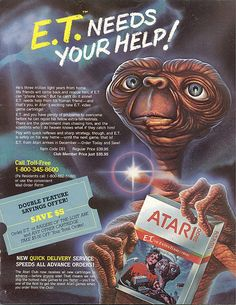 Vintage ad for E.T on atari...played it!