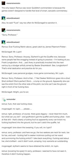 And now I'm just picturing Remus being Lee Jordan's number one fan for commentar… – smartgames Harry Potter Marauders, Harry Potter Fandom, Harry Potter Memes, The Marauders, Lee Jordan Harry Potter, Potter Facts, Hogwarts, No Muggles, Yer A Wizard Harry