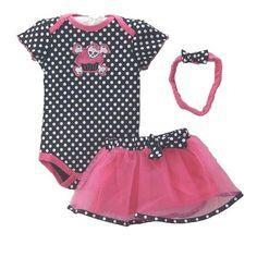 Koly Baby Girls Infant Cotton Short Sleeve Rompers +Tutu Skirt+Headband 3pcs Set: Amazon.co.uk: Clothing