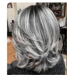 short grey hair over 70 silver hair colors and styles for mature women Grey Hair Wig, Long Gray Hair, Grey Hair Over 50, Grey Blonde Hair, Grey White Hair, Silver Grey Hair, Silver Ombre, Pelo Color Plata, Medium Hair Styles