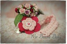 Dummy Chain - Fleur Cerise-Rose Crochet Accessories, Beanie Hats, Boy Or Girl, Baby Shower, Colours, Texture, Chain, Rose, Flowers