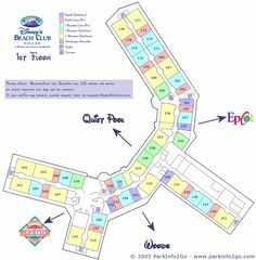 Disney Vacation Club - Beach Club Villas - Floorplan - 1st Floor - ParkInfo2Go