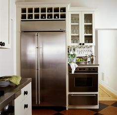 Merveilleux Like The Wine Storage Above Refrigerator Barzotti Tudor Frame Shaker Door  In Cloud White Kitchen