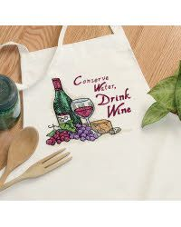 Drink Wine Apron - Christmas gifts!