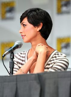 From the side. Growing Out Pixie Cut, Grown Out Pixie, Girl Short Hair, Short Hair Cuts, Short Hair Styles, Morena Baccarin, Pixie Hairstyles, Short Hairstyles For Women, Stargate