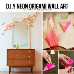 DIY Origami Wall Art