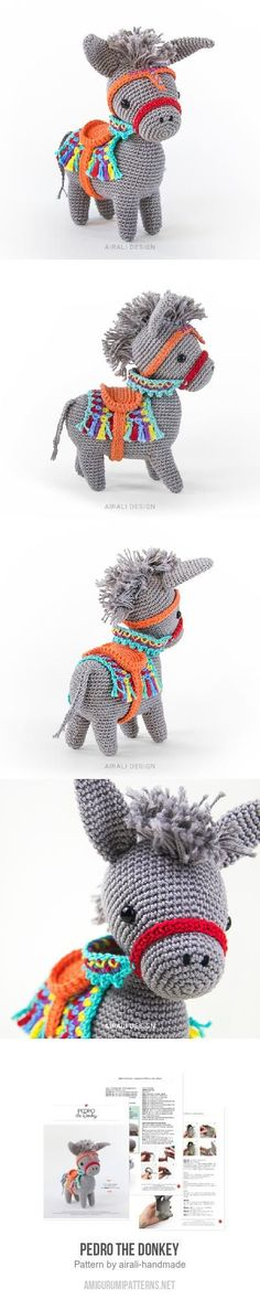 Pedro the Donkey amigurumi pattern