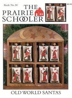 PRAIRIE SCHOOLER OLD WORLD SANTA'S 01