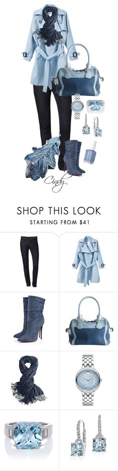 """Fall & winter"" by cindy32tn ❤ liked on Polyvore featuring Calvin Klein, Christian Louboutin, Burberry, Movado, Blue Nile and Essie"