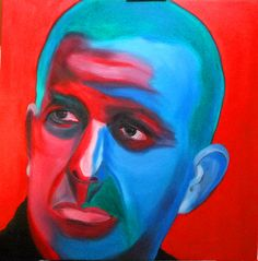 """Self-portrait of the artist Oil on canvas  24"""" X 24"""""""