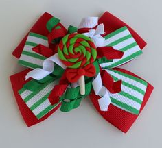 4 inch Christmas Candy Boutique Bow