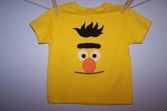 Sesame Street BERT Face Custom Boutique T SHIRT Tee Ernie by EnchantedStitches528 on Etsy