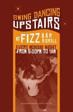 Swing Dancing at Fizz, Chicago, IL - Every Monday Starting at 9pm.