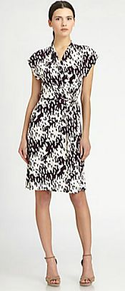 Diane von Furstenberg Mindy Silk Jersey Wrap Dress via @Corporette