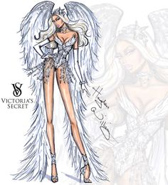 Victoria's Secret 2014 collection by Hayden Williams 'Winter White Angel'