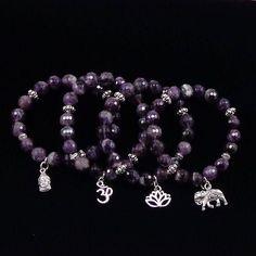 Items similar to Faceted Amethyst Bracelet / Yoga Bracelet /February Birthstone/ Lotus / Elephant Bracelet/ Om Bracelet/ Yoga Mala Bracelet/ Buddha Bracelet on Etsy Kids Bracelets, Jewelry Bracelets, Yoga Jewelry, Hippie Jewelry, Tribal Jewelry, Diy Jewelry, Yoga Mala, Yoga Bracelet, Fitness Bracelet