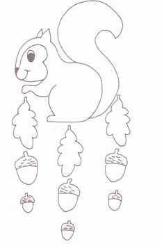 Autumn Crafts, Fall Crafts For Kids, Paper Crafts For Kids, Art For Kids, Diy And Crafts, Felt Animal Patterns, Stuffed Animal Patterns, Fall Preschool, Preschool Crafts