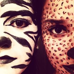 Animal print makeup done by me!