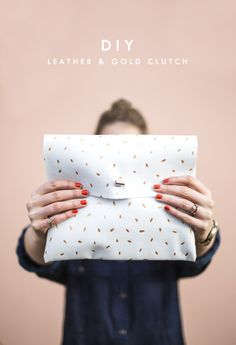 DIY metallic dotted clutch | easy fashion crafts