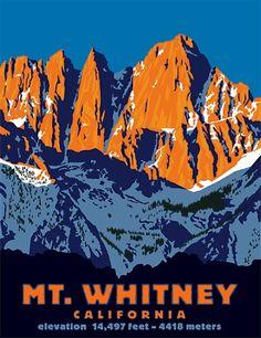 vintage national park poster | Vintage National Parks Posters & Signage / Steve Forney Illustration ...