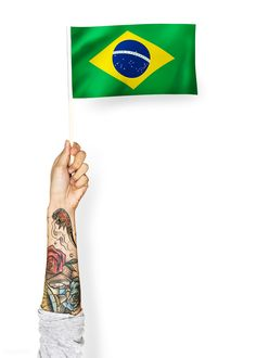 Person waving the flag of Federative Republic of Brazil | free image by rawpixel.com