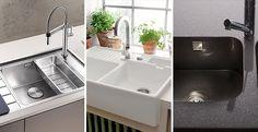 Tipos de Fregaderos de Cocina ¿Qué Opciones Existen? Sink, Bathtub, Bathroom, Design, Home Decor, Shape, Home, Kitchen Sinks, Kitchens