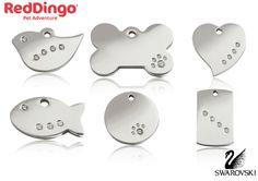 Red Dingo's, New Swarovski ID Tags