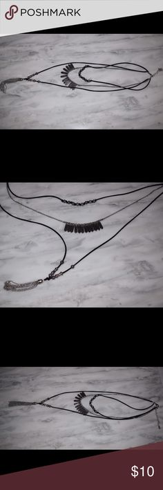 Three Layer Necklace Three Layer Necklace, choker, mid and long necklace. Forever 21 Jewelry Necklaces
