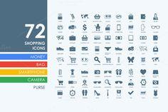 72 shopping icons by Palau on Creative Market