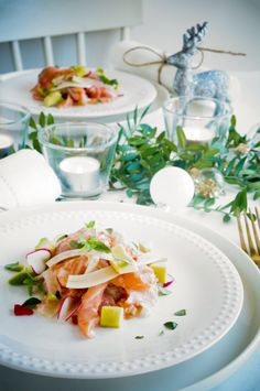 Ceviche, Salad Recipes, Healthy Recipes, Healthy Food, Lemon Kitchen, Buffet, Tilapia, Food For Thought, Starters