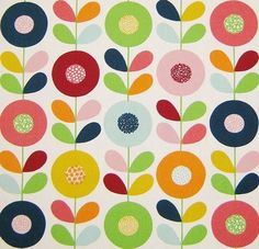 scandinavian fabric vtg retro DIY cushion curtains 50s 60s Marimekko Heals era | eBay