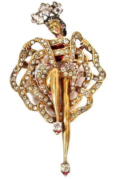 Eisenberg pin-Aged and Opulent Jewelry