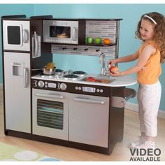 kidkraft uptown espresso kitchen (706943532607) kidkraft toys at