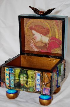 Interior of Vaya Con Dios Artbox  by Mary Jane Chadbourne  SOLD